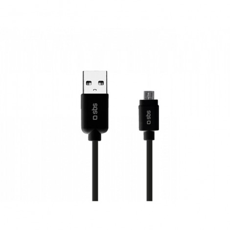 SBS TECABLEMICRO3K USB 2.0 - MicroUSB Data Cable (Black)