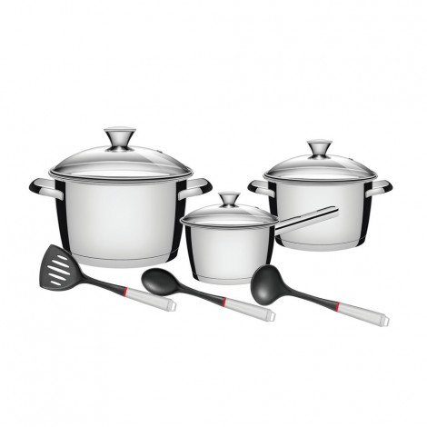Tramontina 9Pcs Cookware Stainless Steel Set