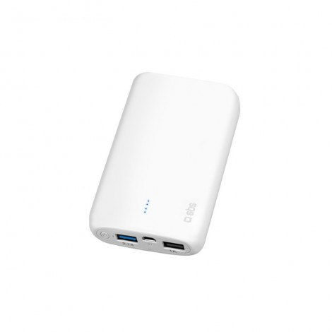SBS TTBB10000PW  10,000 mAh Portable Battery Backup Power Bank (White)