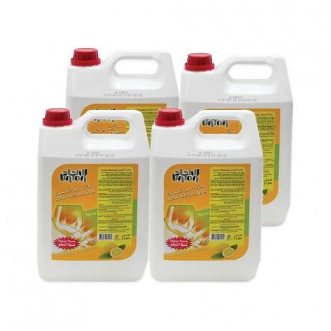Union Dish Wash Liquid Lemon 4x5Ltr