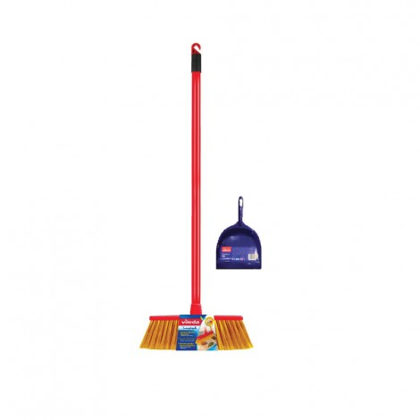 Vileda outdoor Broom + Dustpan Free