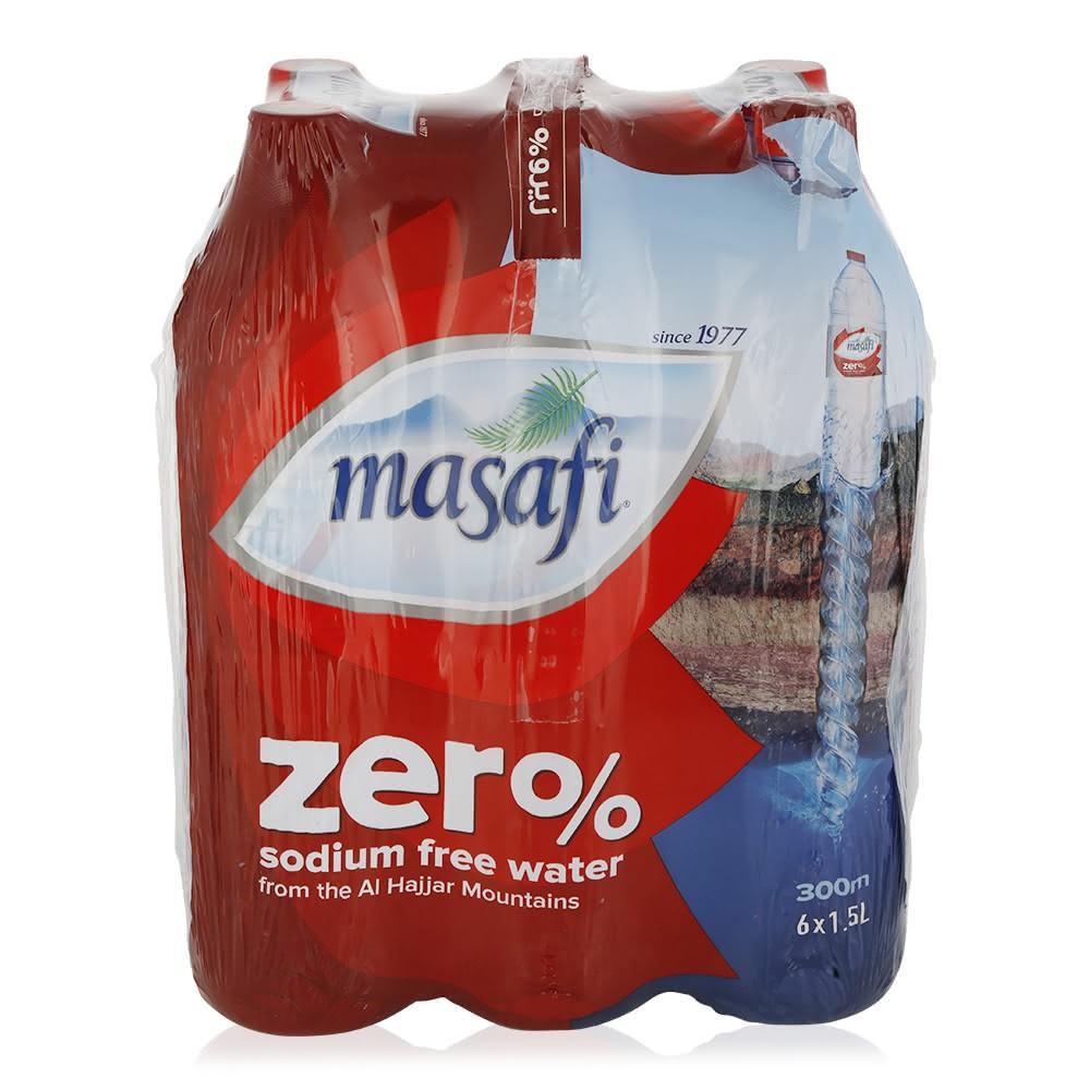 Masafi Zero Sodium Free Water - 6 x 1 5 Ltr
