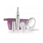 Braun Face SE830 Facial Epilator & Cleanser + Lighted Mirror And Beauty Pouch