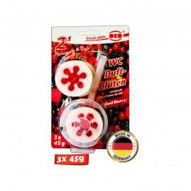 Oro WC Rim Block Red Berry - 3 x 45G Rim Block