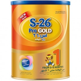 Wyeth Nutrition S26 Pro gold Stage 1, 0-6 Months Premium Starter Infant Formula For Babies Tin 900g With Biofactors System