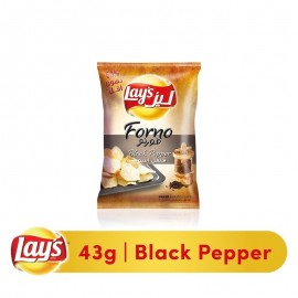 Lay's Forno Black Pepper Chips - 43 gm