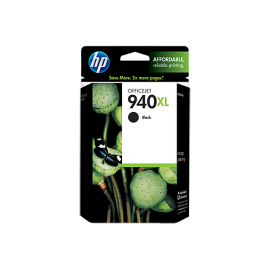 HP 940XL High Yield Black Original Ink Cartridge (C4906AE)