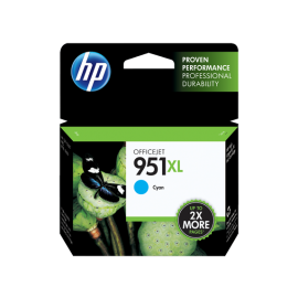 HP 951XL High Yield Cyan Original Ink Cartridge (CN046AE-BGX)