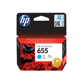 HP 655 Cyan Original Ink Advantage Cartridge (CZ110AE)