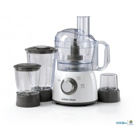 Black & Decker 400W  Food Processor W/Blender, Mincer & Grinder, FX400BMG-B5
