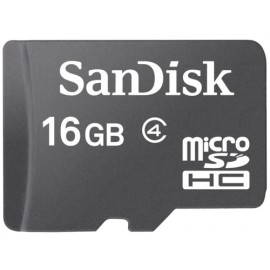 SanDisk 16GB Micro SDHC Card Class 4, w/o SD adapter
