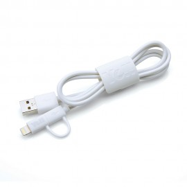 Yell 2-In-1 Lightning/Micro Usb Usb 2.0 Charge And Sync Cable White BA10DLM W