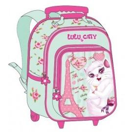 """Lulu Caty (7869) School Bag 15"""" Paris Trolley LU34-1003B"""