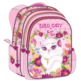 "Lulu Caty (8866) School Bag 17.5"" Sweet Cat BP LU35-1078"