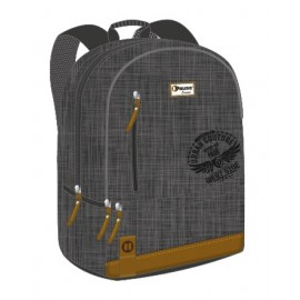 "Pause (8224) Basic School Bag 18"" Black BackPack  PBBB-513-B"