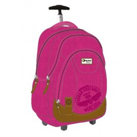"Pause (8330) Basic School Bag 18.5"" Pink Trol PBBT-609-A16"