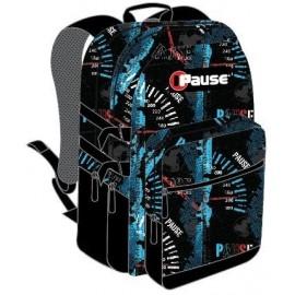 "Pause (1125) School Bag 18"" Speed Black BackPack  PABB-512-F"