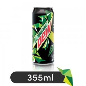 Mountain Dew, Carbonated Soft Drink, Can, 355 ml