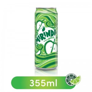 Mirinda Green Apple, Carbonated Soft Drink, Can, 355 ml