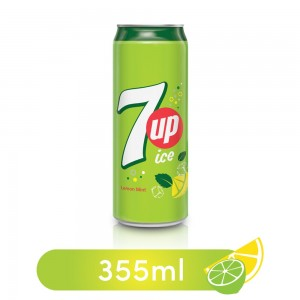 7UP Ice, Carbonated Soft Drink, Can, 355 ml