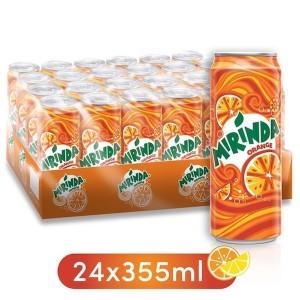 Mirinda Orange, Carbonated Soft Drink, Cans, 24 x 355 ml