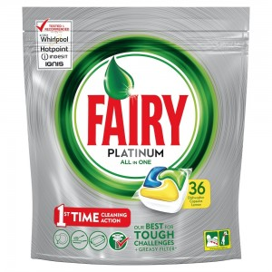 Fairy Platinum All In One Lemon Dishwasher Tablets 36's
