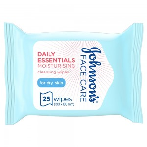 JOHNSON'S, Cleansing Wipes, Daily Essentials, Moisturising, Dry Skin, Pack of 25 wipes