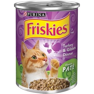 Purina Friskies Wet Can Pate Turkey & giblets Cat Food 369g