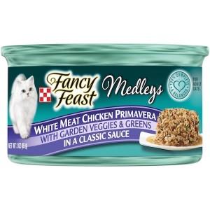 Purina Fancy Feast Medleys White Meat Chicken Primavera Wet Cat Food 85g