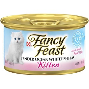 Purina Fancy Feast Kitten Ocean Whitefish Wet Cat Food 85g