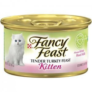 Purina Fancy Feast Kitten Turkey Wet Cat Food 85g