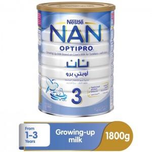 Nestle Nan Optipro Stage 3 (1-3 Years Old) Premium growing-Up Formula Powder Tin 1800g