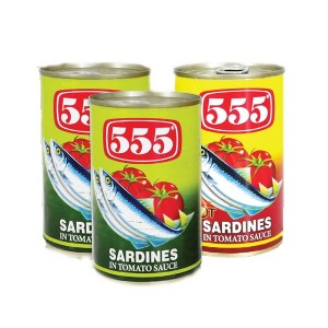 555 Sardines Assorted - 3x155gm
