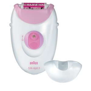 Braun Silk-epil 3 3370 epilator with 2 Extras (Sensitive Area Cap, Massage Cap)