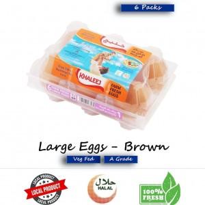 Khaleej, Fresh Eggs, Brown, Large 6's