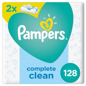 Pampers Complete Clean Baby Wipes, Dual Pack, 128's