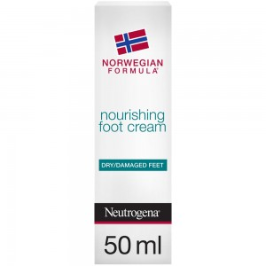Neutrogena, Foot Cream, Norwegian Formula, Nourishing, Dry & Damaged Feet, 50ml