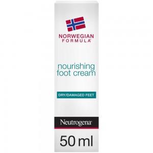 Neutrogena, Foot Cream, Norwegian Formula, Nourishing, Dry & Damaged Feet, 50ml