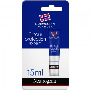 Neutrogena, Lip Balm, Norwegian Formula, 6-Hour Protection, 15 ml