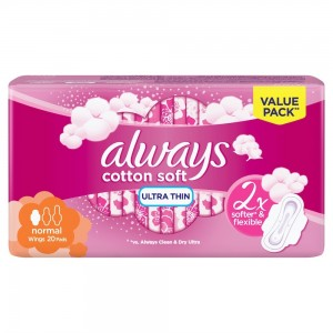 ALWAYS Soft Ultra Thin, Normal sanitary pads, 20 ct