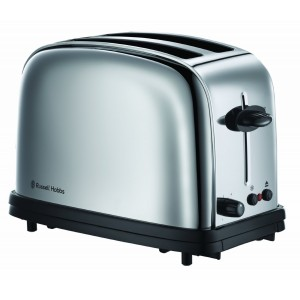 Russell Hobbs Chester Polished Stainless Steel Classic Toaster, 20720