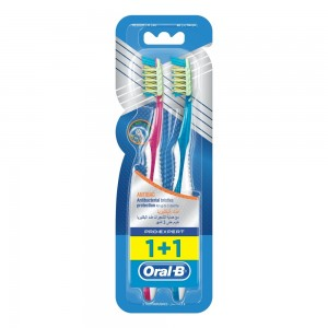 Oral-B Pro-Expert Antibacterial Medium Manual Toothbrush Dual Pack