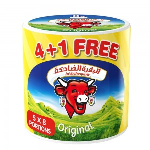 La Vache qui rit Original Spreadable Cheese Triangles, 8 Portions x 5 pack , 32 portions, 600g