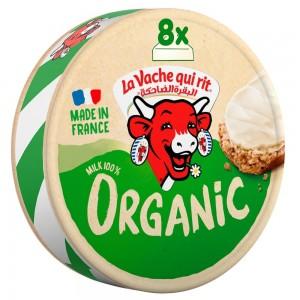 La Vache qui rit Organic Spreadable Cheese Triangles, 8 Portions, 120g
