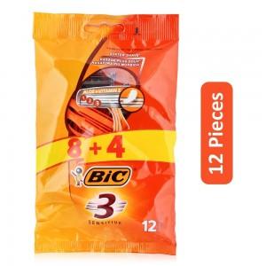 Bic Sensitive Blade Razor - 12 Pieces