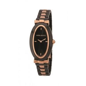 Nina Ricci Rose Gold Case Black Dial Ladies (NO61016SM)