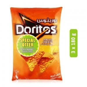 Doritos Nacho Cheese Tortilla Chips - 3 x 180 g