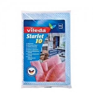 Vileda Starlet All Purpose Cloth Wipes / Semi-disposable Cleaning Cloth 10Pcs