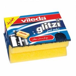 Vileda Glitzi Sponge Scourer Dish Washing High Foam 1Pc
