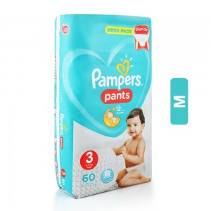 Pampers Pant Midi Baby Diapers - 60 Pieces, 6-11 Kg